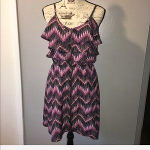 Colorful a chevron light summer dress